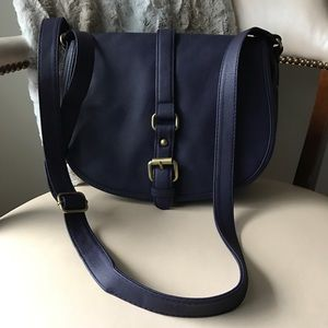 Merona blue messenger style bag